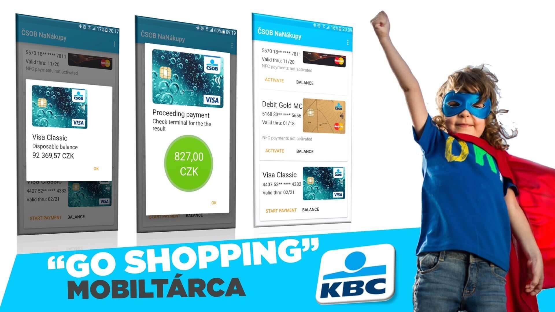 """K&H Bank cseh tesó: """"Go Shopping"""" mobiltárca"""