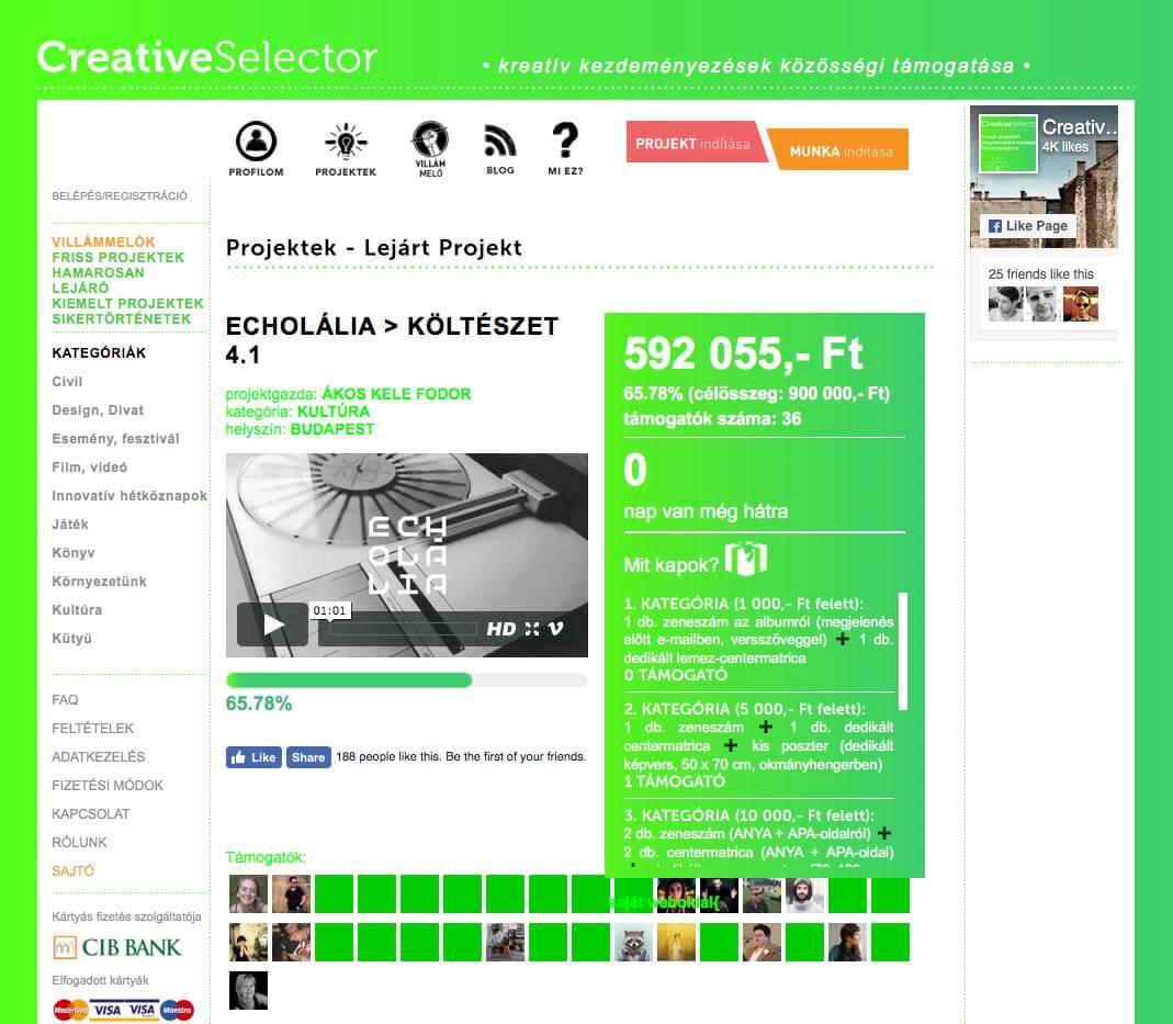 creative-selector crowdfunding