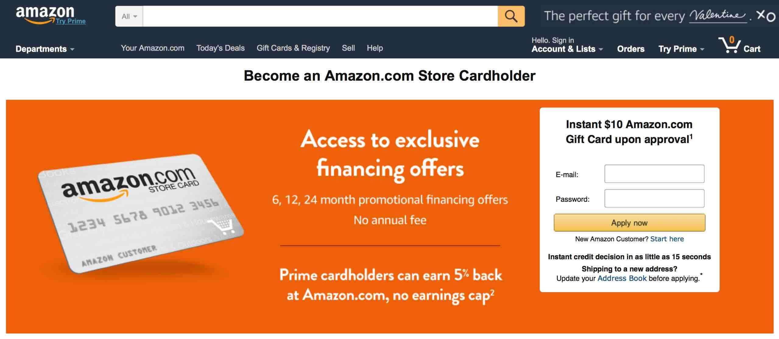 Amazon credit fintech