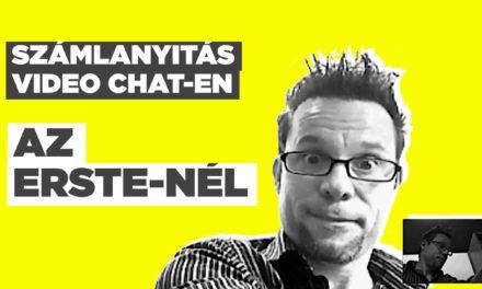 Így nyithatsz számlát video chaten keresztül az Erste-nél!