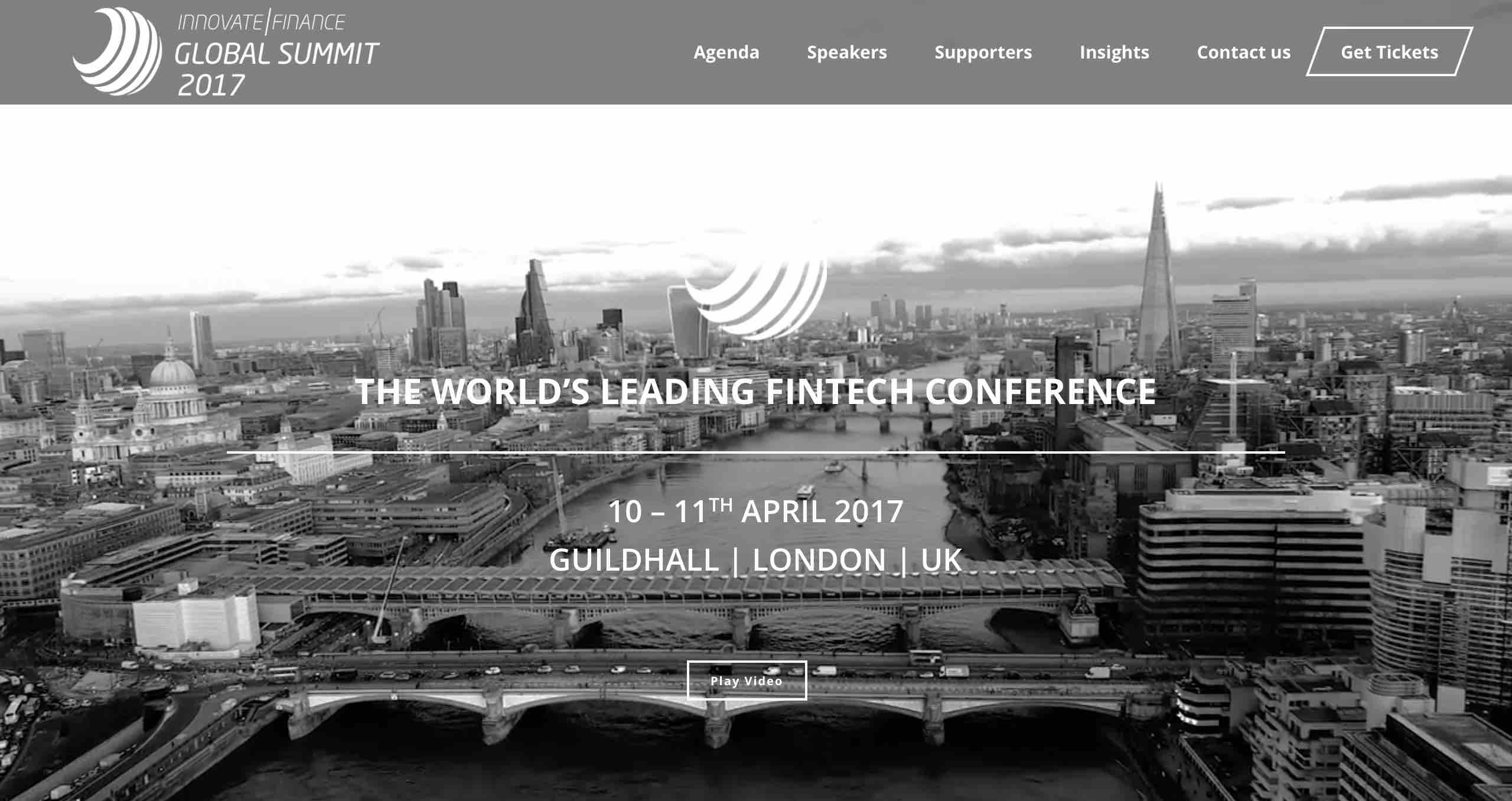 innovate finance fintech conference fintechshow