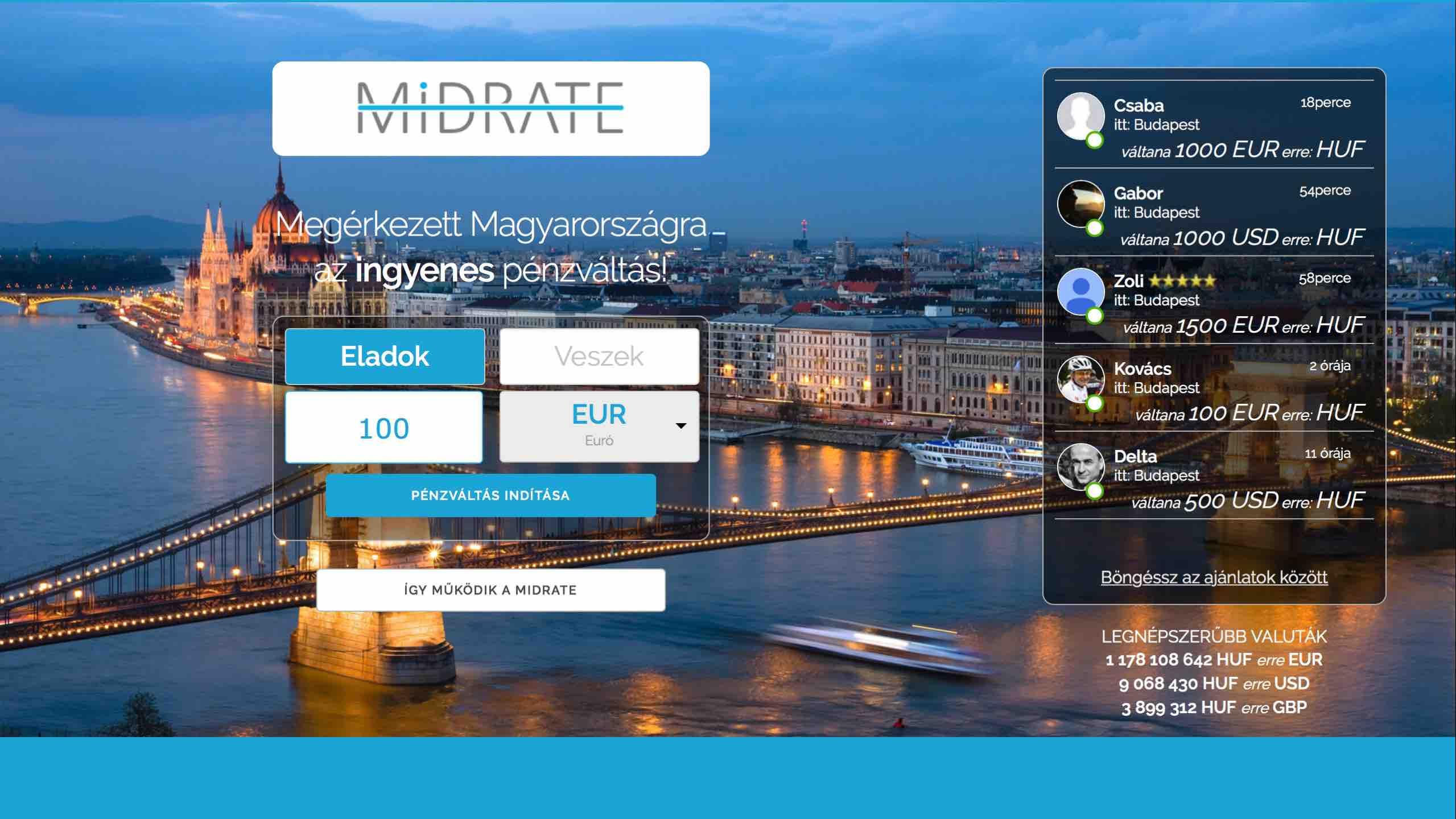 Újabb magyar fintech: közösségi pénzváltás ingyen – Midrate