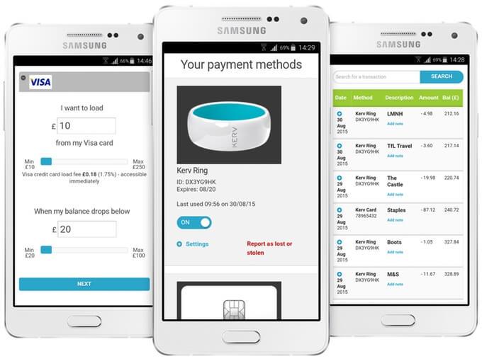 okosgyűrű fizetés mobil applikáció