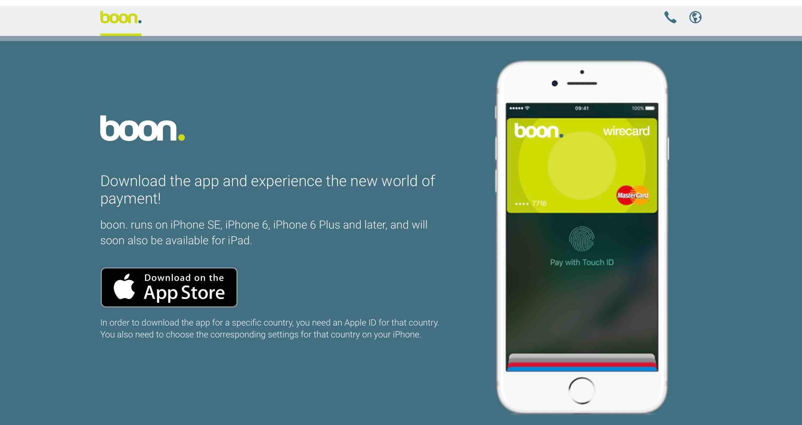 boon. mobilfizetés apple pay