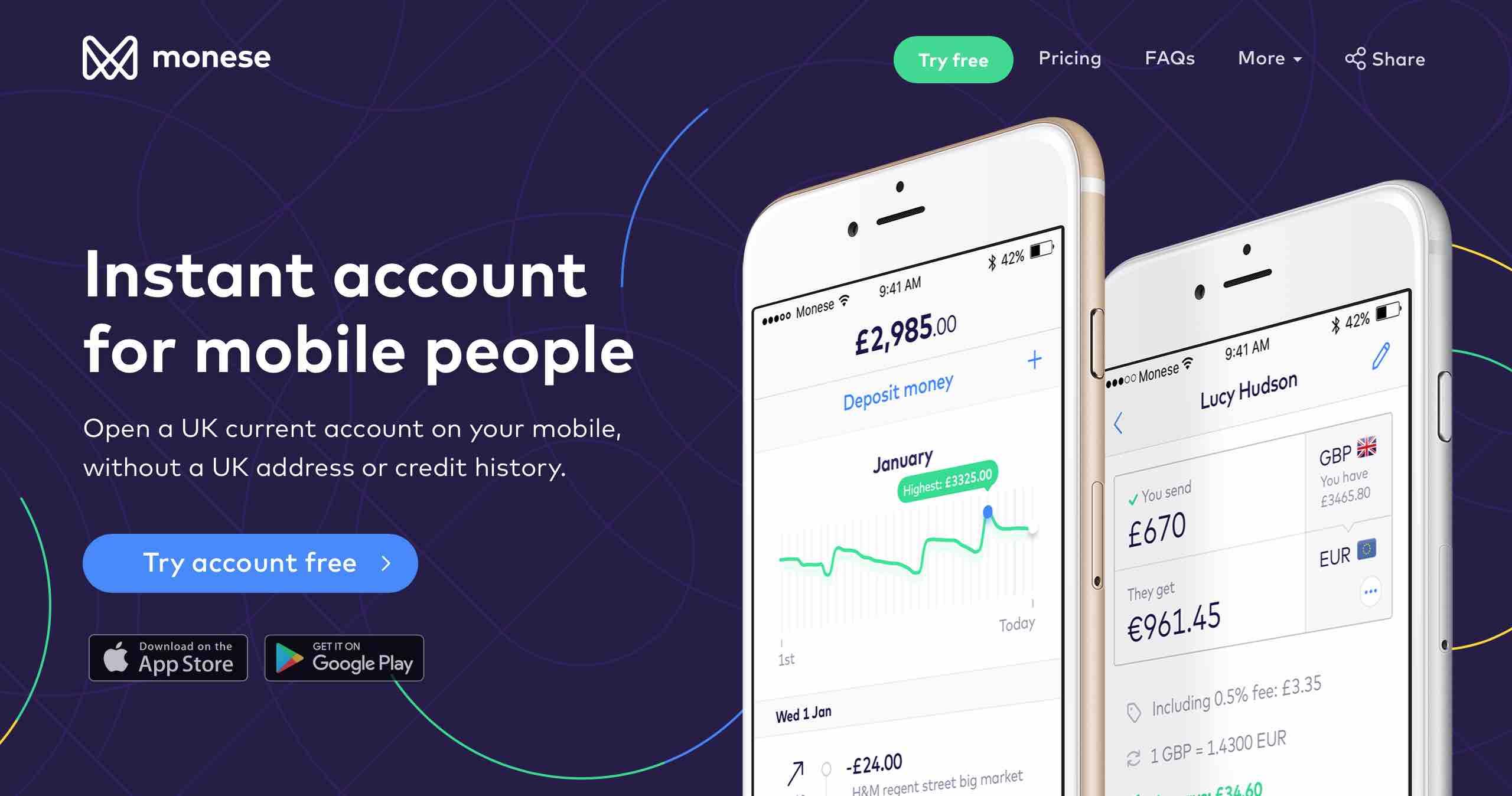 Monese fintech startup bankszámla nyitás