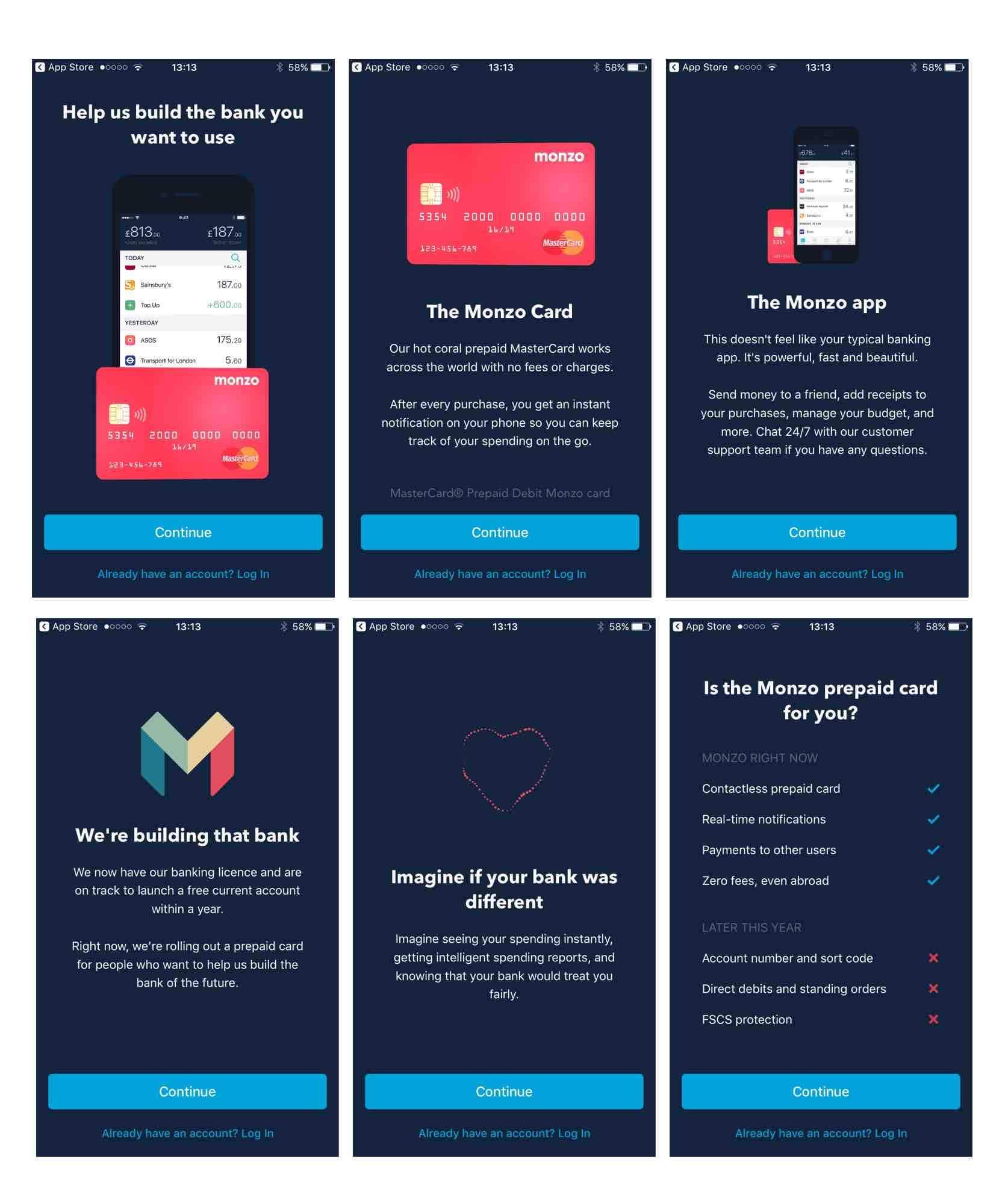 monzo fintech bank app