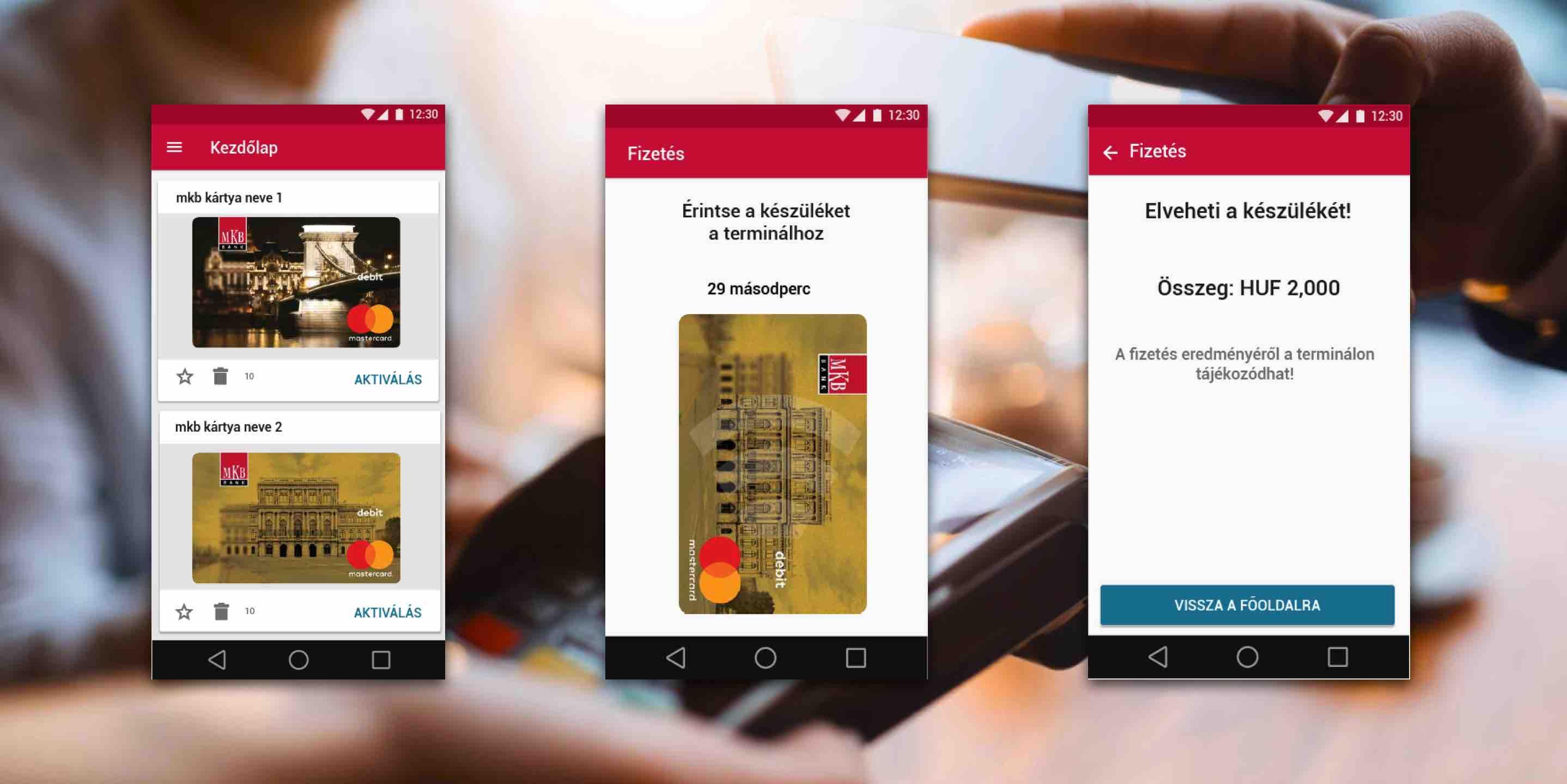 MKB Pay mobilfizetés mobiltárca
