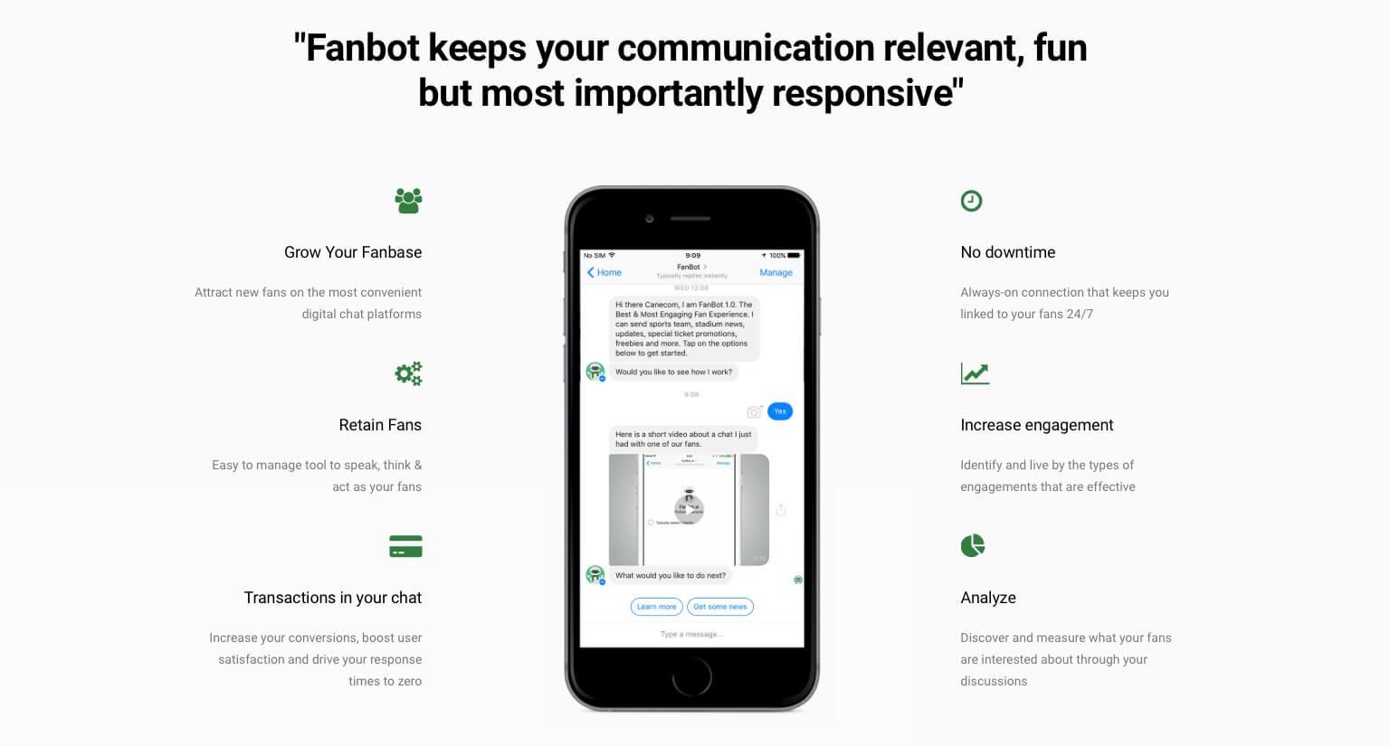 fanbot chatbot fintech