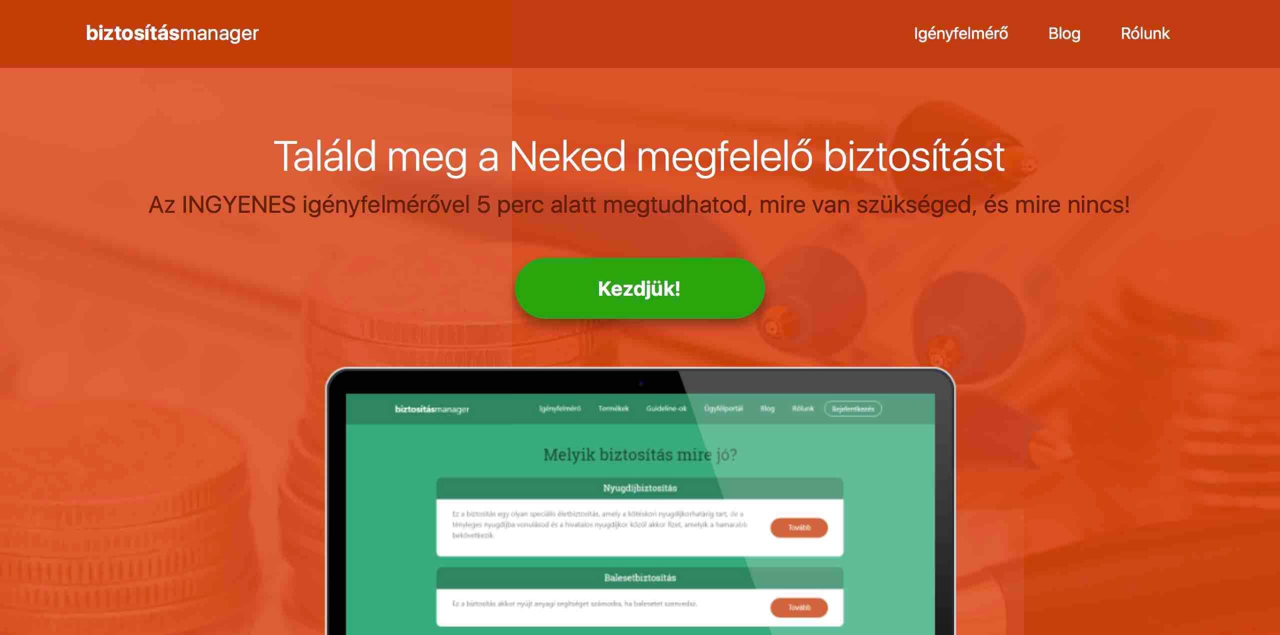 insurtech biztositasmanager startup