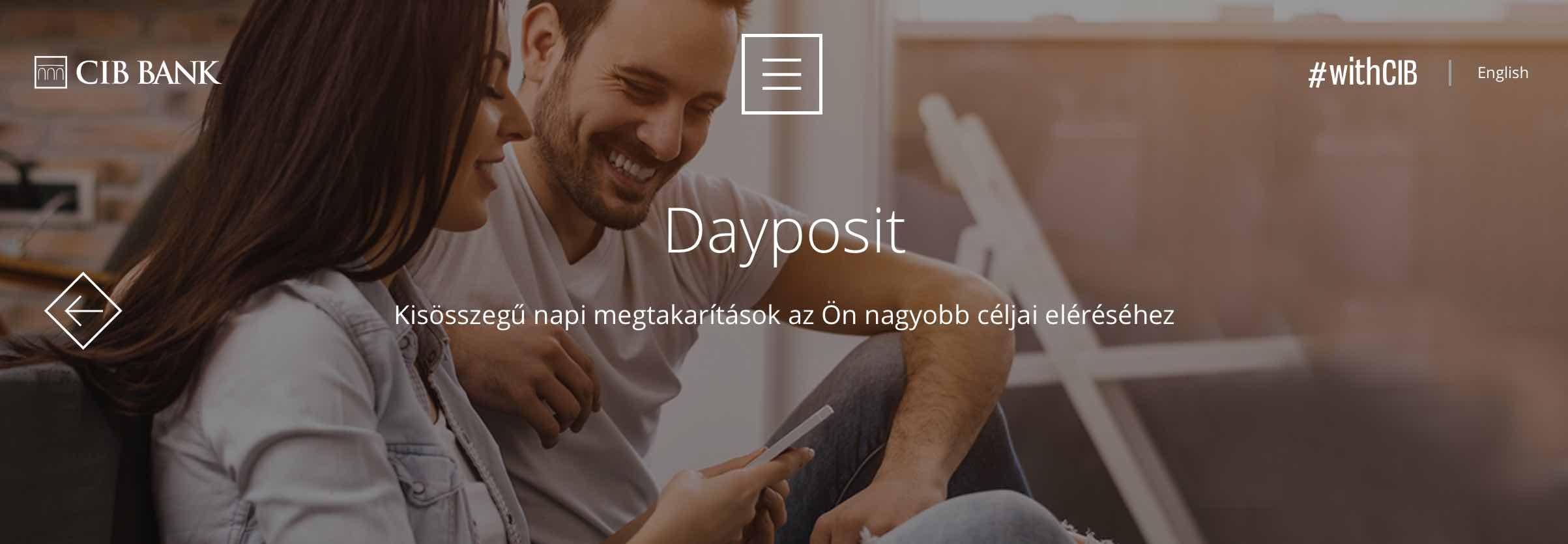 CIB mobilbank megtakaritas dayposit