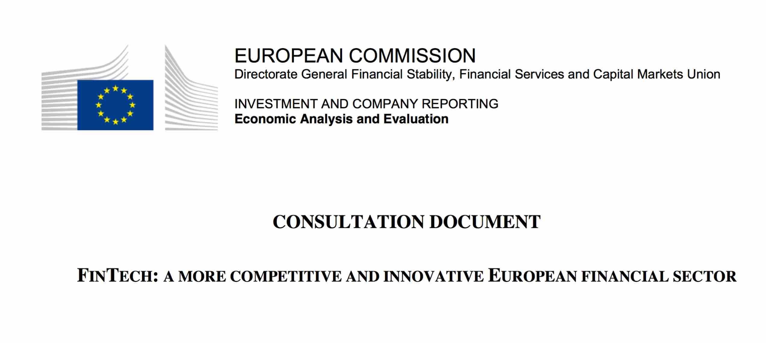 Europai Bizottsag FinTech Versenykepesebb es innovativabb europai penzugyi szektor