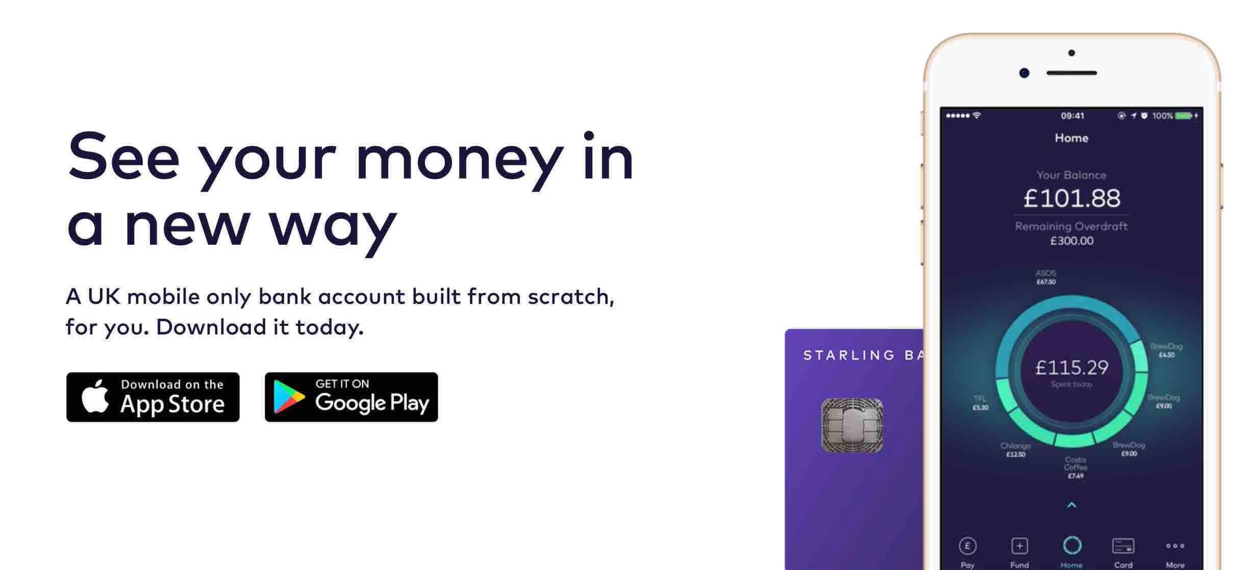 Starling bank fintech bankszámla
