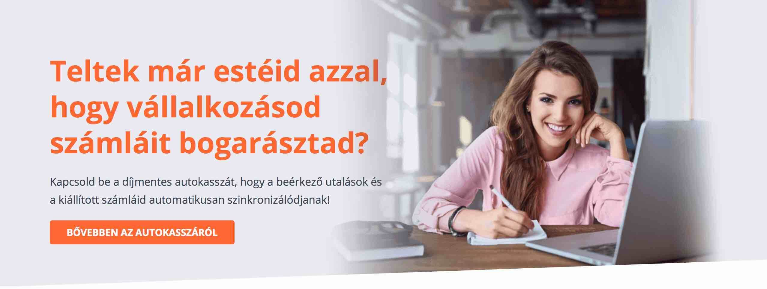 autokassza Számlázz.hu virtuális pénzügyi asszisztens