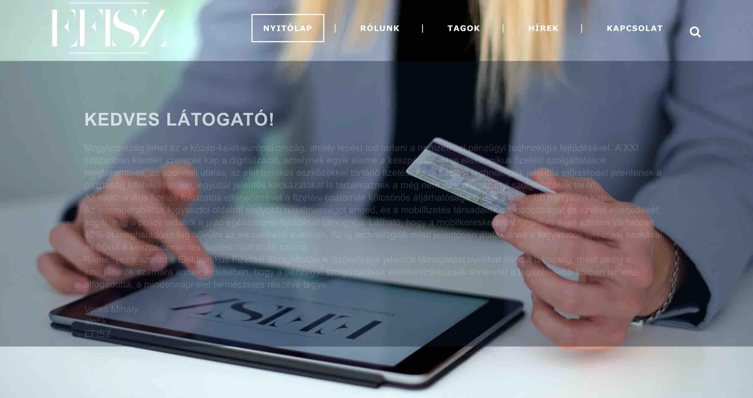 elektronikus fizetési szolgáltatók szövetsége