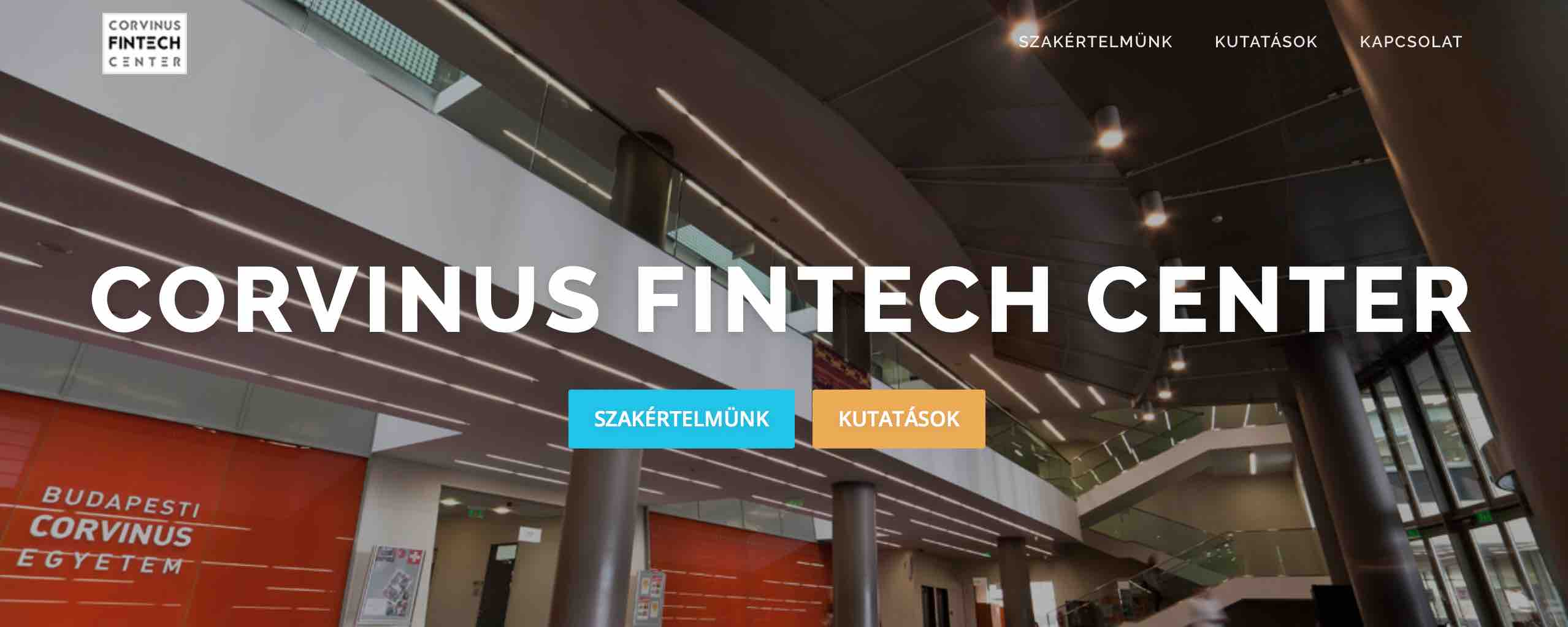 fintech kutato kozpont Corvinus FinTech Center