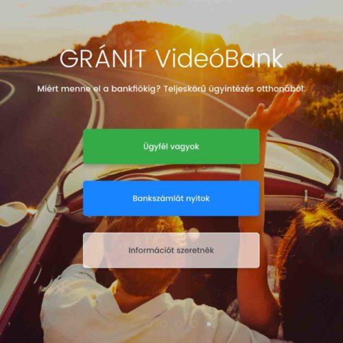 Megérkezett az online számlanyitás! A GRÁNIT Bankban nyitották az első videobankos számlát