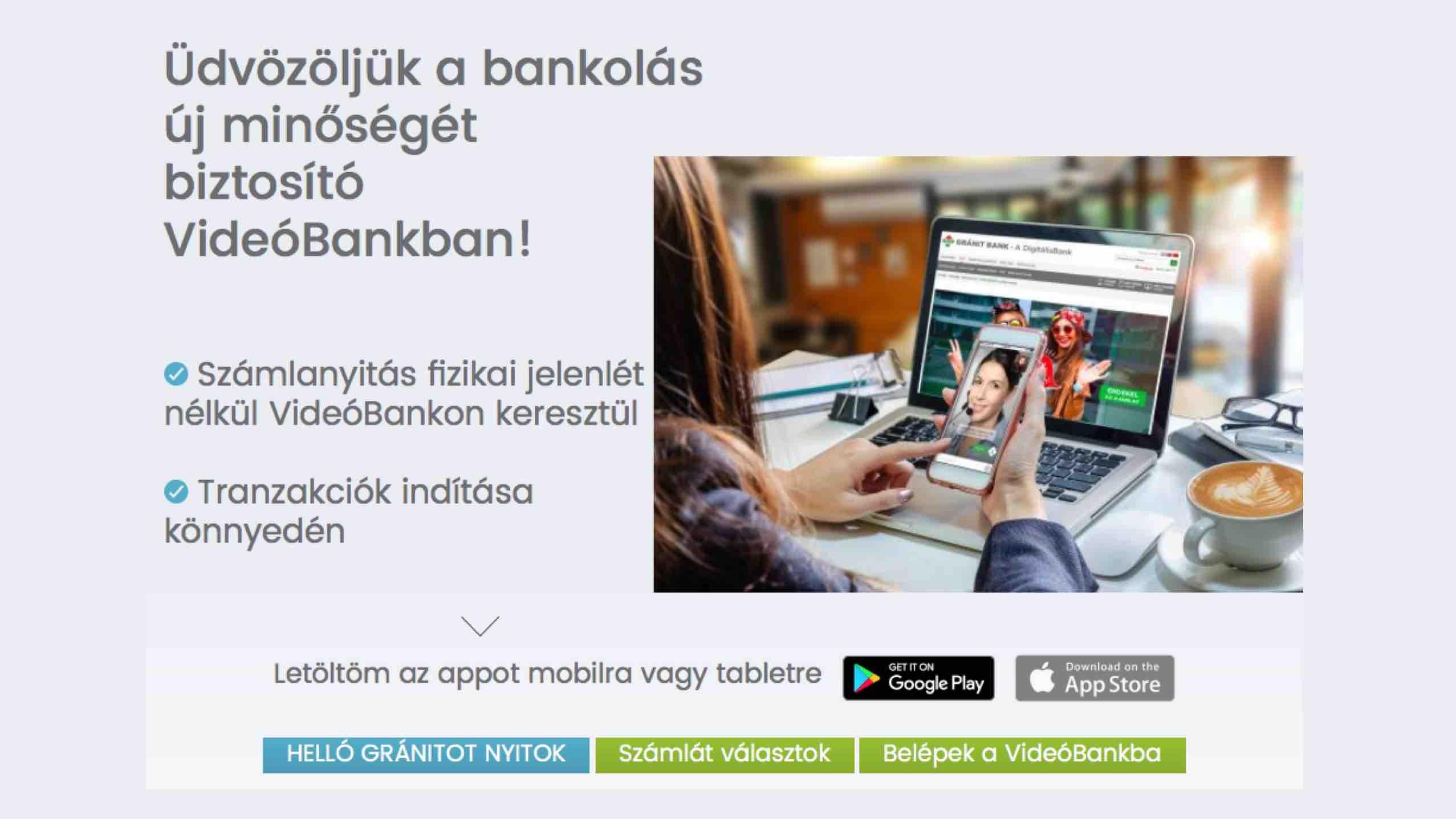 videobankolas online számlanyitás Gránit Bank