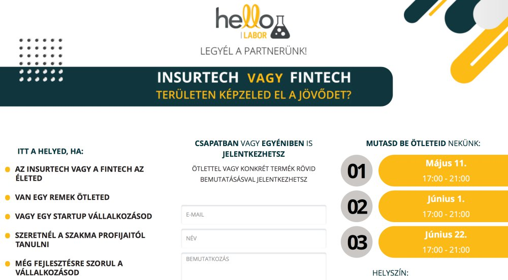 hellolab insurtech startup mentorprogram