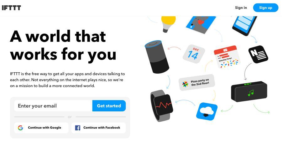 IFTTT applet platform