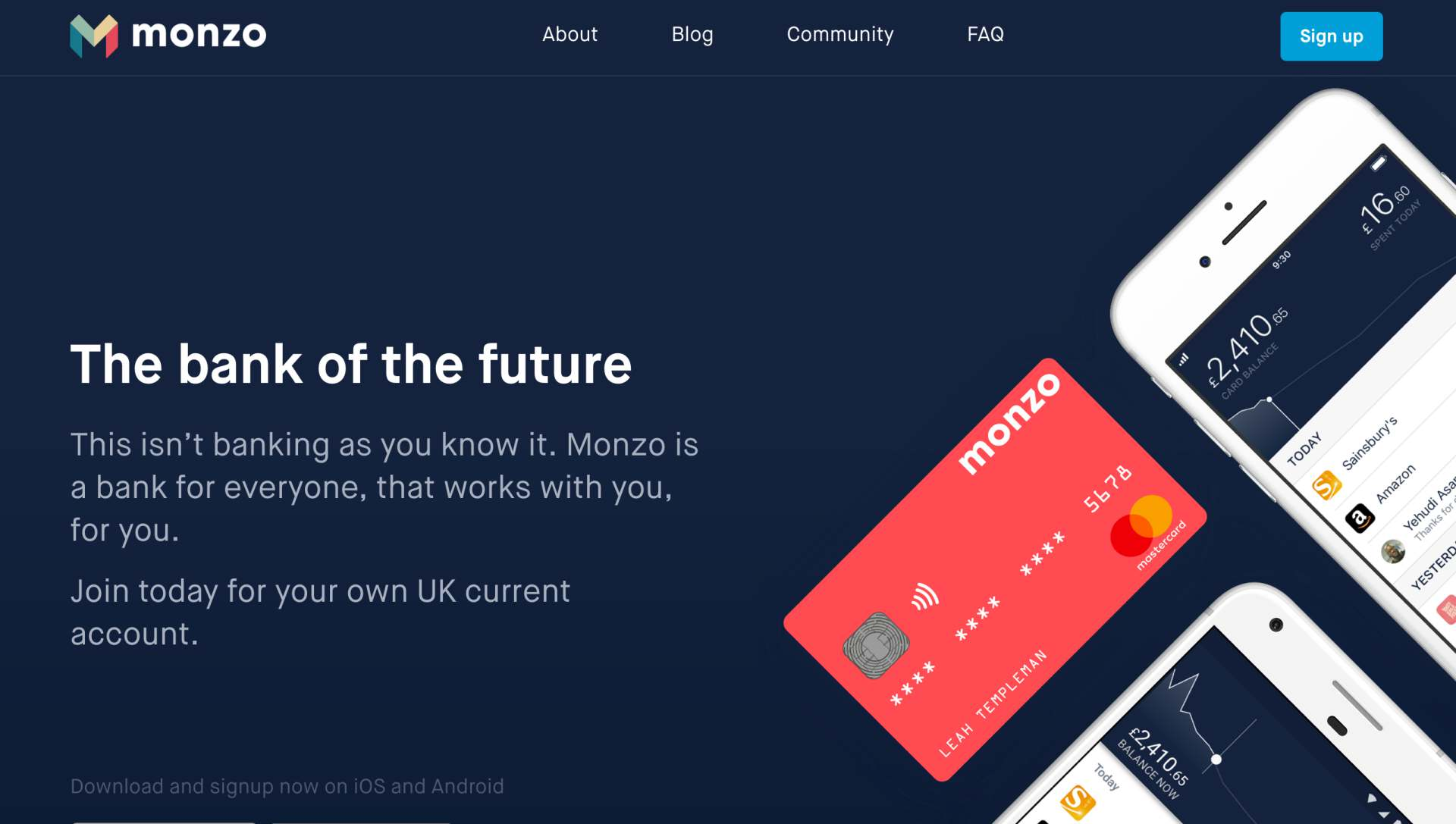 Monzo digitalis bank