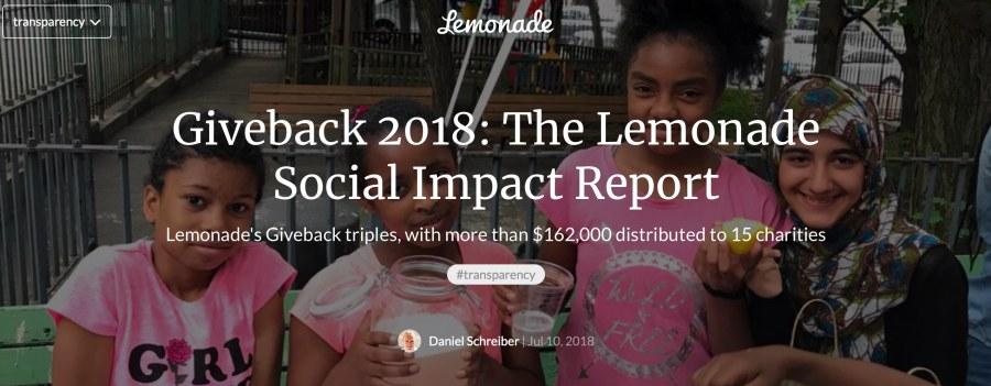 Lemonade insurtech startup