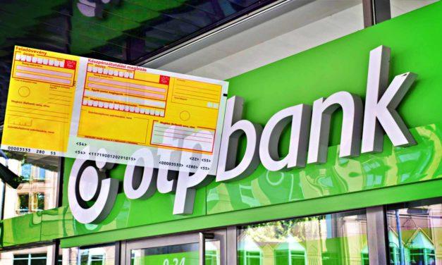 Kitiltotta az OTP a sárga csekket a bankfiókból
