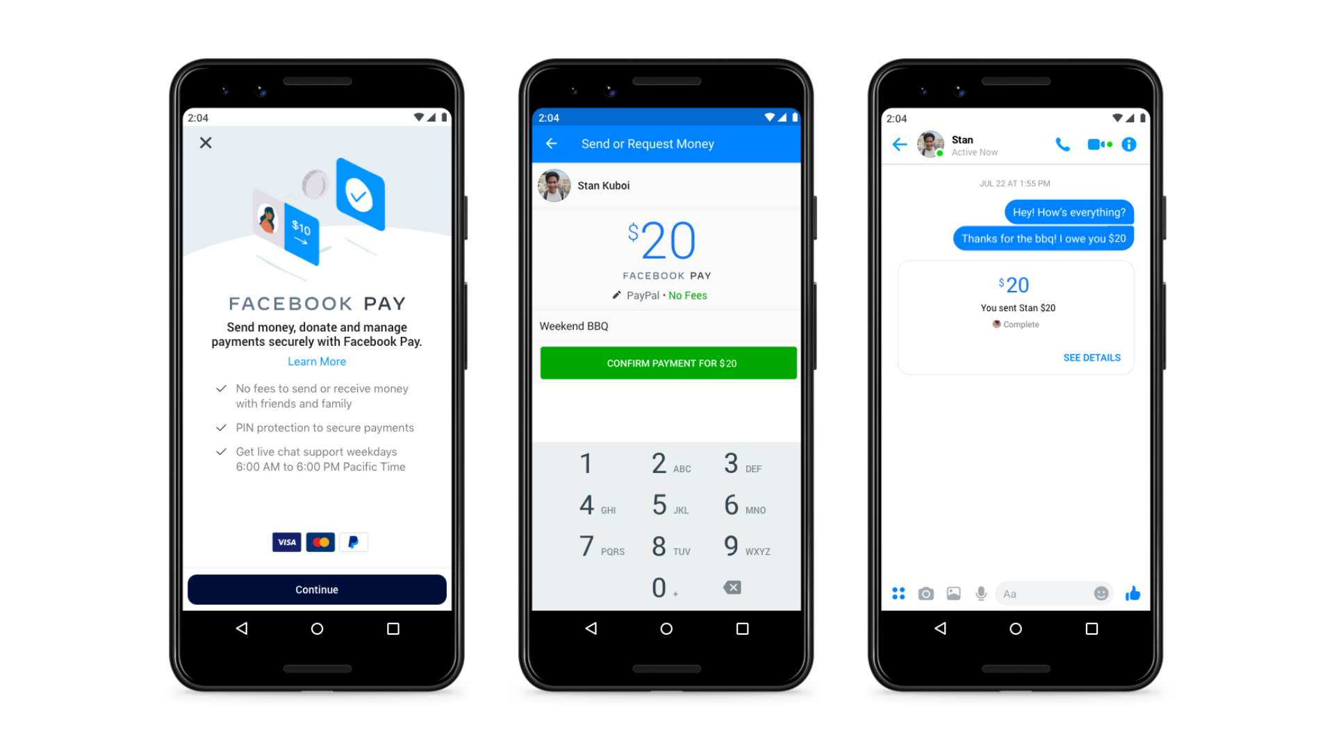 facebook pay mobilfizetes