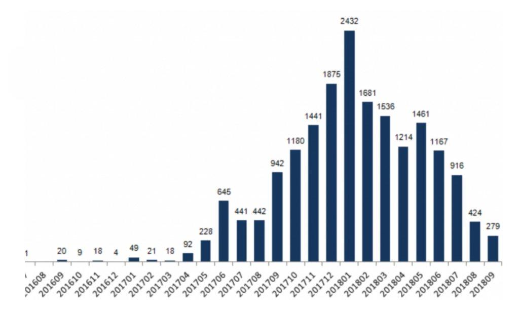 ICO statisztika