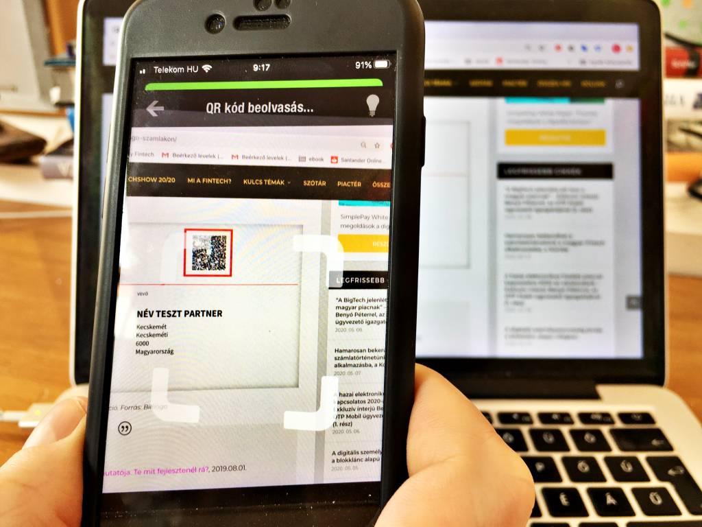 otp smartbank qr-kod azonnali fizetes