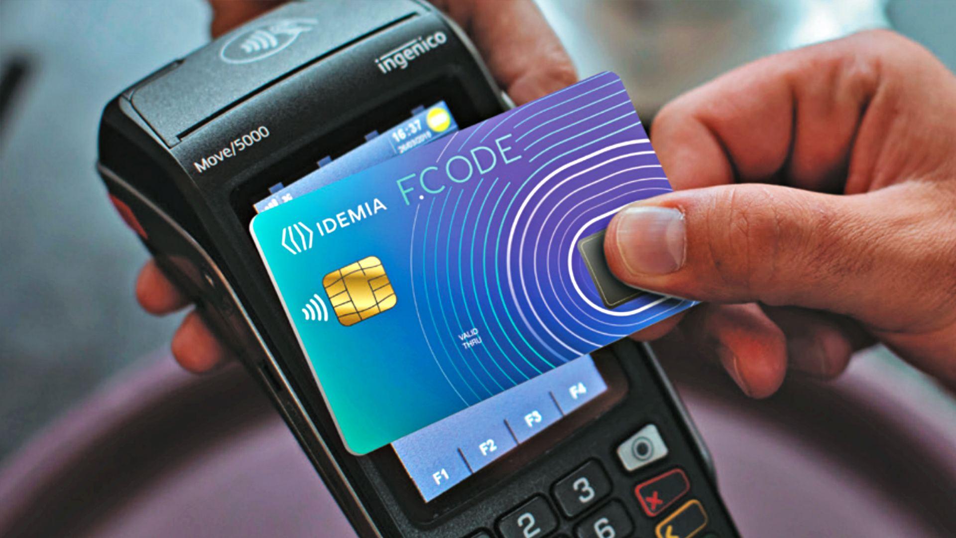 idemia biometrikus fizetes f.code