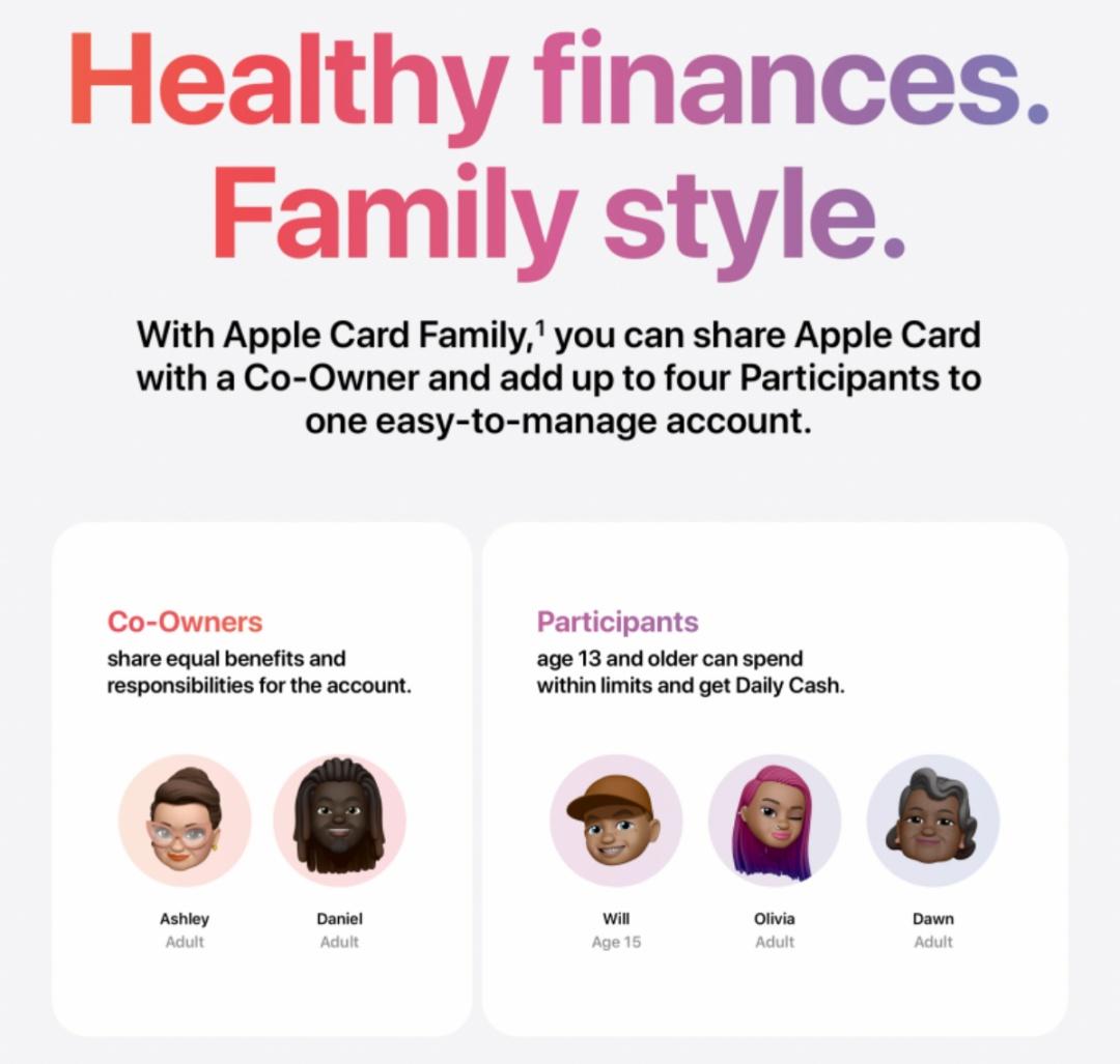 Apple Card Family apple pay
